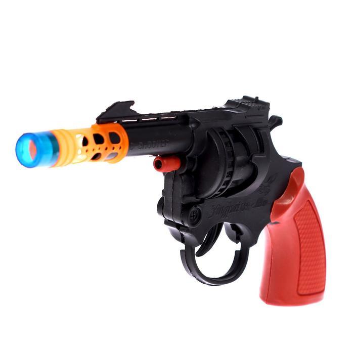 Пистолет Револьвер, стреляет 8-ми зарядными пистонами