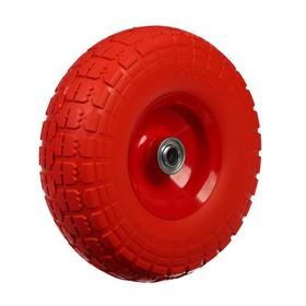 Колесо полиуретановое 4,1/3,5-4, d = 260 мм, ступица: диаметр 16 мм, длина 50 мм, ширина покрышки 80 мм Ош