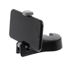 Вешалка-крючок на подголовник с держателем телефона, серо-черный Ош