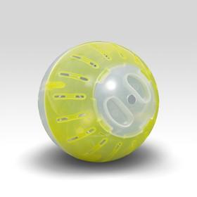 Шар для грызунов, 10 см, прозрачный/жёлтый (прозрачная крышка) Ош