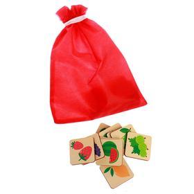 Мемори «Фрукты» 24 карточки, мешочек, коробка, размер карточки: 4,8 × 4,8 cм, 22,5 × 13,5 × 5 cм