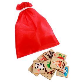 Мемори «Животные» 24 карточки, мешочек, коробка, размер карточки: 4,8 × 4,8 cм, 22,5 × 13,5 × 5 cм