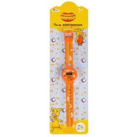 Часы «Оранжевая корова» показывают время и дату