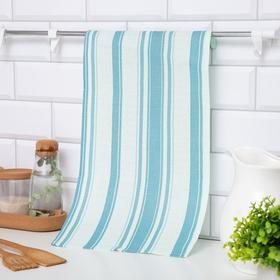 """Полотенце """"Доляна"""" Полосы цв. голубой 25х50 см, 100% хл., вафельное полотно 160 г/м2"""