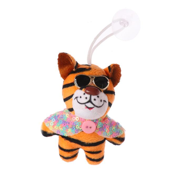 Мягкая игрушка Тигруля в очках на присоске, цвет МИКС