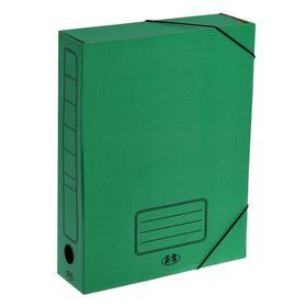 Папка архивная А4 на резинке 75мм, зеленая