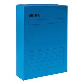 Короб архивный А4, 75мм, микрогофрокартон, картонный клапан, синий