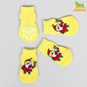 Носки нескользящие 'Санты', S (2,5/3,5 * 6 см), набор 4 шт Ош