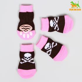 Носки нескользящие 'Пиратские', S (2,5/3,5 * 6 см), набор 4 шт Ош