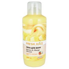 Пена для ванн Fresh Juice «Бананово-манговый мусс», 1 л