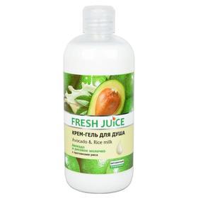 Крем-гель для душа Fresh Juice «Авокадо и рисовое молочко», 500 мл