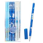 Ручка гелевая со стираемыми чернилами, стержень синий, корпус МИКС