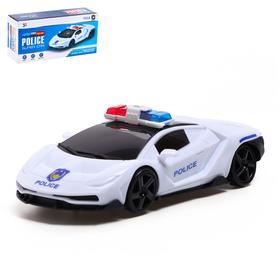Машина «Полиция», работает от батареек, световые и звуковые эффекты