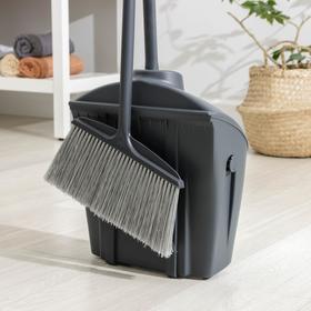 Комплект для уборки: щётка, закрывающийся совок для мусора Ош