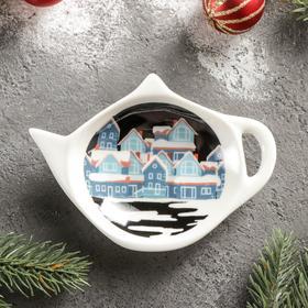 Подставка под чайный пакетик Magistro «Новый Год. Домик», 12×8,4 см