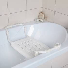 Сиденье для ванны раздвижное, цвет белый Ош