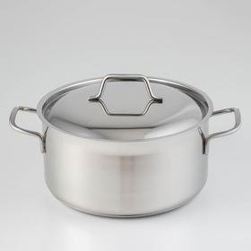 Кастрюля «Крокус Классика», 5 л, металлическая крышка