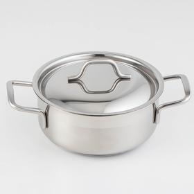 Кастрюля «Крокус Классика», 1 л, металлическая крышка