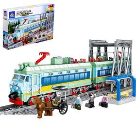 Конструктор «Городской поезд», работает от батареек, 1162 детали