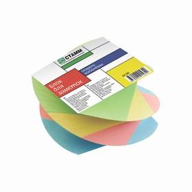 Блок бумаги для записей, спираль, 6 х 5 х 4 см, 80 г/м2, цветной