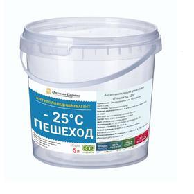 Реагент противогололёдный, 5 л, (соль, хлорид кальция, мраморная крошка), «Пешеход -25» Ош