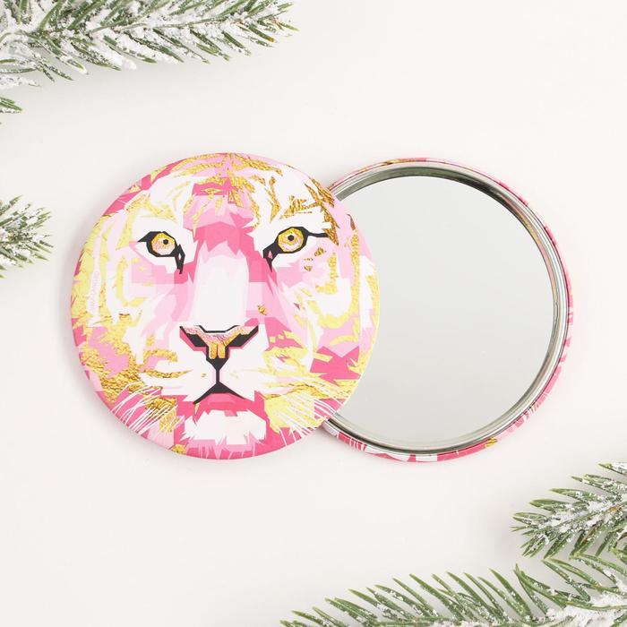 Зеркало Тигр графика, диам.7 см
