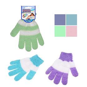 Мочалка-перчатка «Полосатик», МИКС