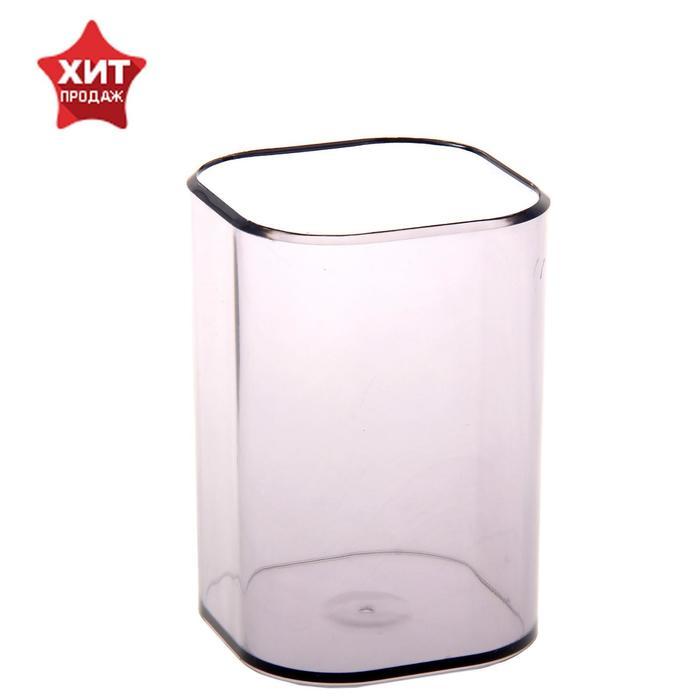 Подставка-стакан для пишущих принадлежностей Визит, тонированный серый