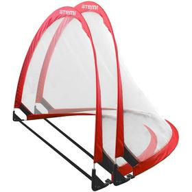Набор складных футбольных ворот Atemi APSG02, 120х80х80см, цвет красно/белый, 2 шт Ош
