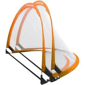 Набор складных футбольных ворот Atemi APSG03, 90х60х60см, цвет оранж/белый, 2 шт Ош