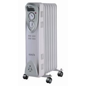 Обогреватель Oasis US-15, масляный, 1500 Вт, 7 секций, до 15 м2, серый