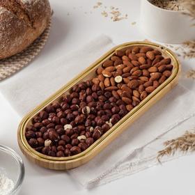 Блюдо для подачи Доляна «Цветение», 33×13 см, бамбук
