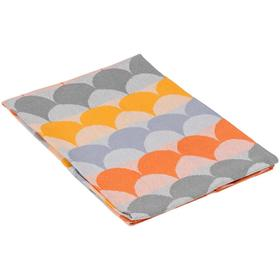 Полотенце кухонное Lamella, размер 40х60 см, цвет серый, оранжевый