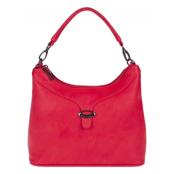 1-3516-054С Сумка мешок, 2 отдела на молнии, цвет красный 240x280x120 иск.кожа