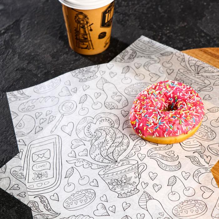 "Бумага парафинированая ""Завтрак"", в листах, 0,20 х 0,30 м"