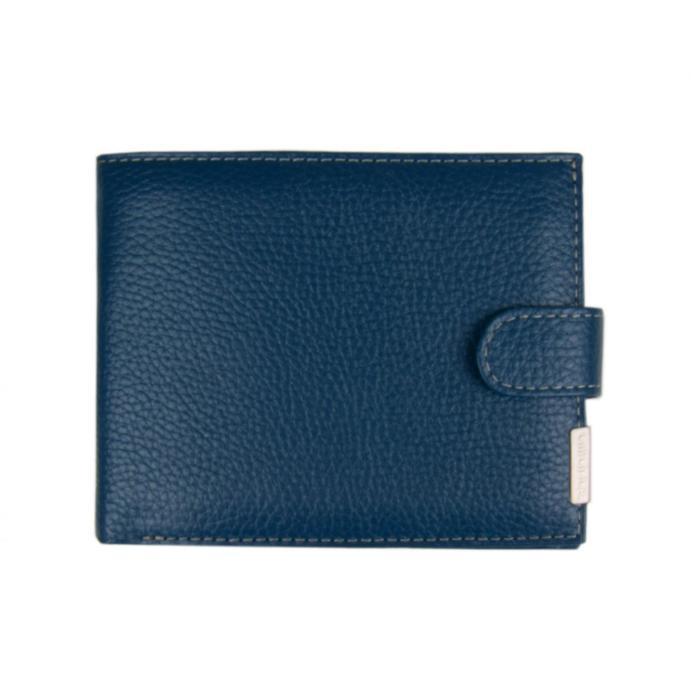 0-06В Портмоне мужское, з/кнопка, отд. для купюр, карт, монет, цвет синий 12,5х10х2см