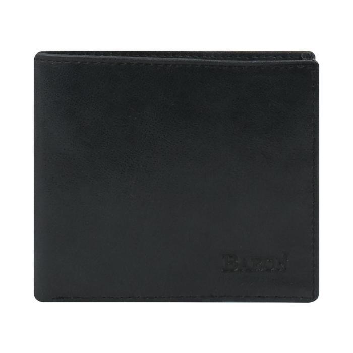 0-16В Портмоне мужское, 2 отдела, для карт, монет, цвет черный 10,5х9х2см