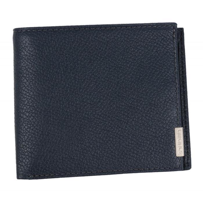0-16В Портмоне мужское, 2 отдела, для карт, монет, цвет синий 10,5х9х2см