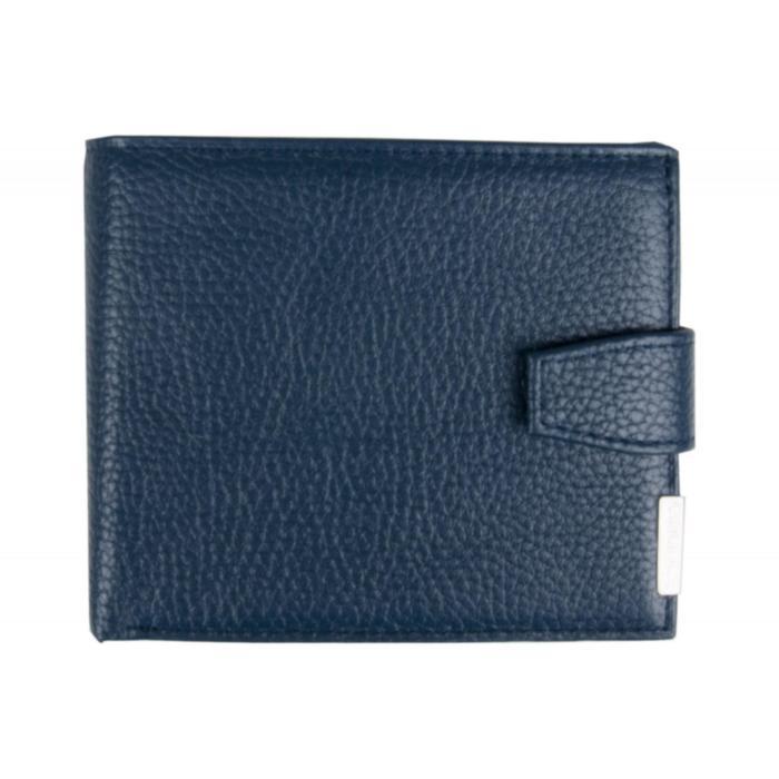 0-227В Портмоне мужское, з/кнопка, 2 отдела, для карт, монет, цвет синий 11,5х9х2см