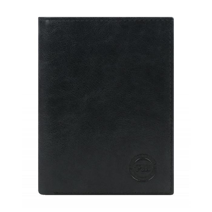 0-396FM Портмоне мужское, отд. для купюр, карт, монет, цвет черный 12х9х2см