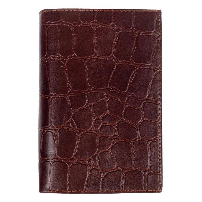 0-403FM Портмоне мужское, 2 отдела, для карт, монет, цвет коричневый 11х15х2см