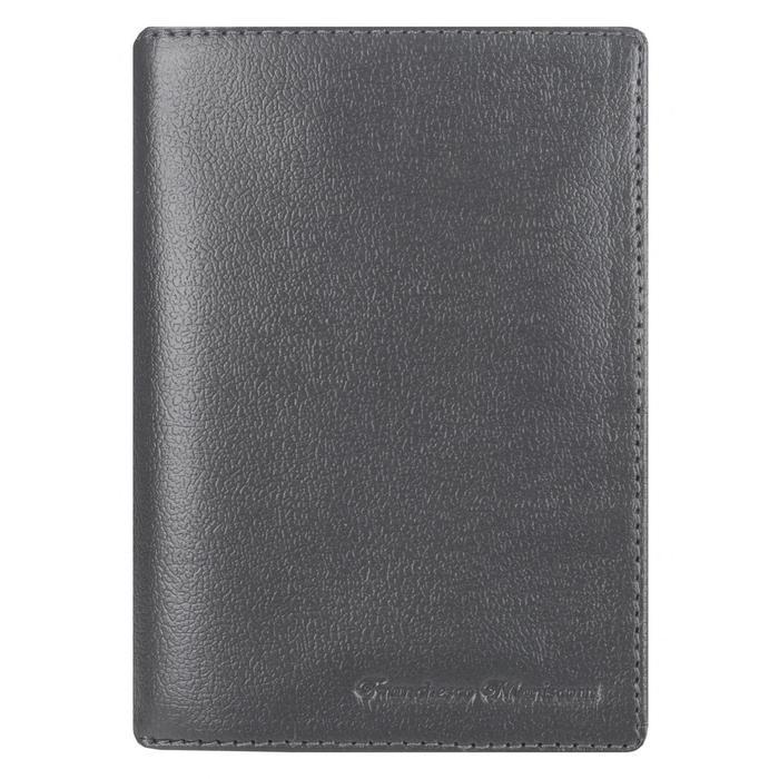 0-404FM Портмоне мужское, 2 отдела, для карт, монет, цвет смок 11х14,5х2см