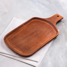"""Блюдо для подачи """"Доска"""", красная глина, 32х18х2 см"""