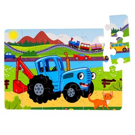 "Пазл-рамка 24 эл. ""Синий трактор"" П24-2518"