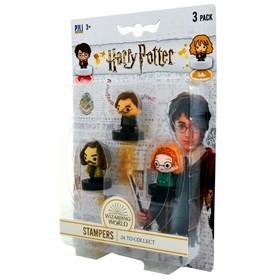 Коллекционный набор штампиков Гарри Поттер 3 штуки, в блистере, 24 вида