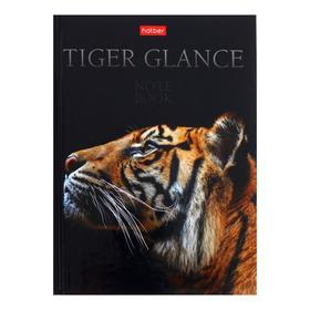 Бизнес-блокно А6 64л кл/лин Взгляд тигра, тв обл, гл лам 72124