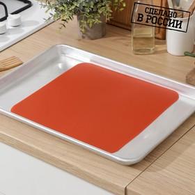 Коврик для выпечки, 30×30 см, цвет красный