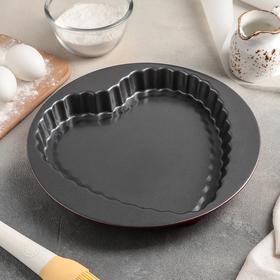 Форма для выпечки Доляна «Ренард», 27×3,5 см, антипригарное покрытие, цвет чёрный