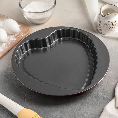 Форма для выпечки Доляна «Ренард», 27×3,5 см, антипригарное покрытие, цвет чёрный - Фото 1