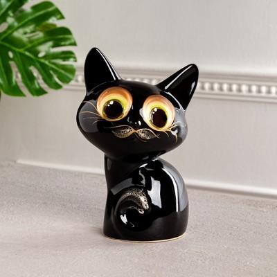 """Копилка """"Лунатик"""", покрытие глазурь, чёрная, 25 см - Фото 1"""